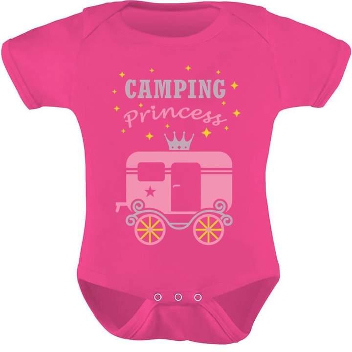 Camper TeeStars - Camping Princess Baby Girl Bodysuit Camping Gift Baby Onesie 18M