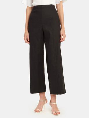 Vince Crop Wide Leg Linen Pant