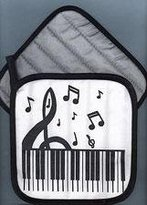 Music Treasures Co. Clef And Keyboard Potholder