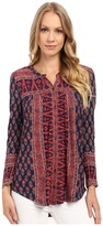 Lucky Brand Wood Block Printed Top