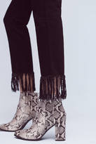 3x1 NYC High-Rise Straight Cropped Fringe Jeans