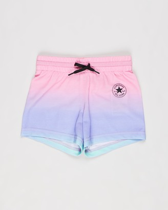 Converse Girl's Pink Shorts - Super Soft Ombre Shorts - Kids - Size 7 YRS at The Iconic