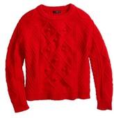 J.Crew Women's Hawthorne Cable Pom-Pom Sweater