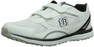 Bruetting Unisex Adults' Performance V Fitness Shoes, White Weiß/Schwarz, 12 UK