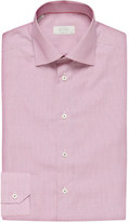 Eton Micro-checked contemporary-fit cotton-twill shirt