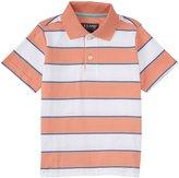 E-Land Kids Stripe Polo (Toddler/Kid) - Coral Haze-2T