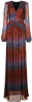 PatBO Rainbow lurex ruched dress