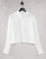 Thumbnail for your product : Lost Ink fitted shirt with shirred cuffs