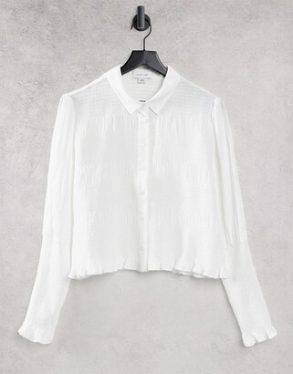 Lost Ink fitted shirt with shirred cuffs