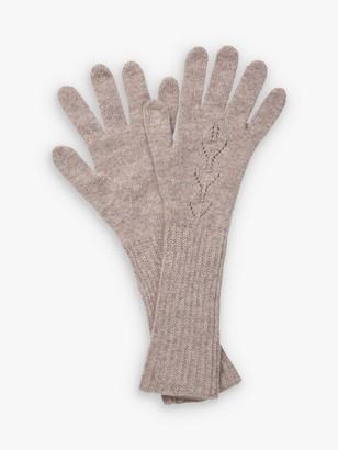 Brora Cashmere Long Pointelle Gloves