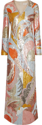 Emilio Pucci Sequined Tulle Maxi Dress