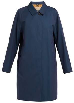 Burberry Camden Cotton Gabardine Trench Coat - Womens - Navy