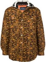Lost Daze contrast hooded trucker jacket