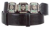 Judith Leiber Embellished Karung Belt