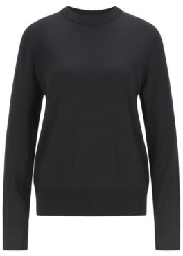 HUGO BOSS Relaxed-fit cotton-blend sweater with silk and cashmere