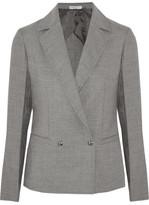 Barbara Casasola Double-breasted Wool-blend Blazer - Gray