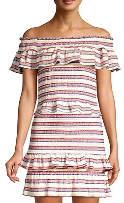 Parker Lizette Off-The-Shoulder Stripe Top