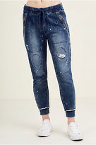 True Religion Patched Repair Womens Sweatpant