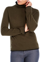 ply cashmere Double-Layer Turtleneck Cashmere Sweater
