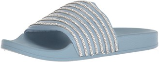 Kenneth Cole Reaction Women's Pool Game Sporty Slide Sandal with Thin Stripes