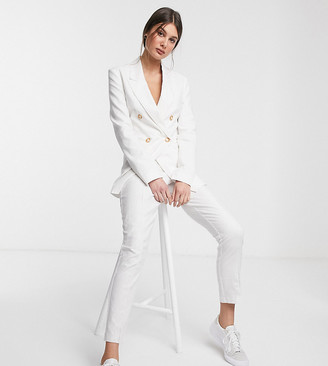 Asos DESIGN Tall ultimate linen cigarette suit pants