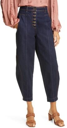Ulla Johnson Crop Tapered Leg Jeans