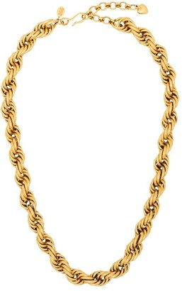 Brinker & Eliza Spiral Staircase gold-plated necklace