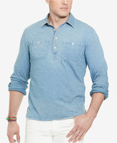 Polo Ralph Lauren Big & Tall Men's Indigo Jersey Popover