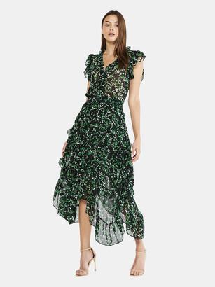 MISA Dakota Double Layer Chiffon Midi Dress