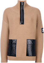 Courreges zipped patch sweater