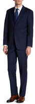 Tommy Hilfiger Vasser Navy Windowpane Two Button Notch Lapel Suit