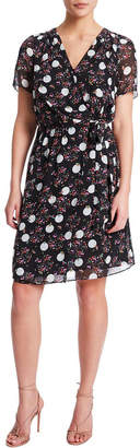 Nell Spotted Silk Dress