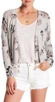 Lucky Brand Floral Linen Blend Cardigan
