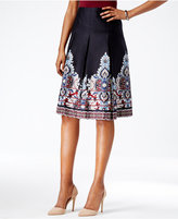 Charter Club Pleated Border Skirt, Only at Macy's
