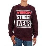 Vision Street Wear Vision Streetwear Logo Fleece Maroon Crew Neck Sweatshirt