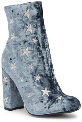 Wild Diva Lounge Yama Star Embroidered Block Heel Boot