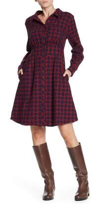 Velvet Heart Labella Long Sleeve Button Down Dress
