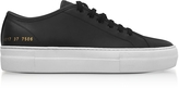 Common Projects Black Leather Tournament Low Super Women's Sneakers