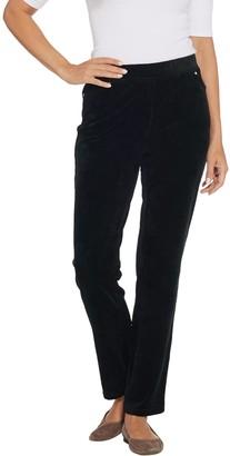 Quacker Factory Short Corduroy Straight Leg Pants w Pockets