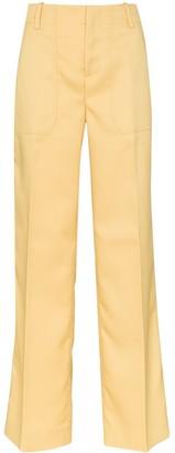 Plan C Straight-Leg Cargo Twill Trousers