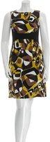 Michael Kors Abstract Patterned Mini Dress
