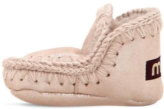 Mou Mini Eskimo Glittered Shearling Boots