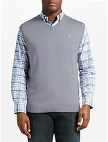Polo Ralph Lauren Merino Wool V-Neck Vest, Design Grey