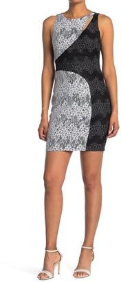 GUESS Lace Cutout Sleeveless Sheath Dress