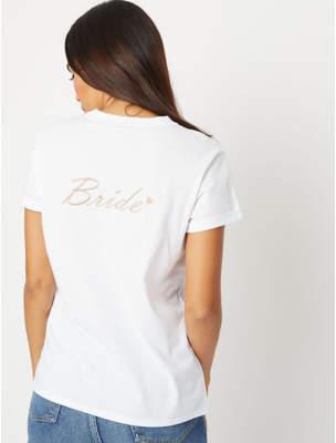 George Bride Slogan Crew Neck T-Shirt