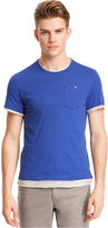 Kenneth Cole Reaction Shirts, Short Sleeve Double Layer T-Shirt