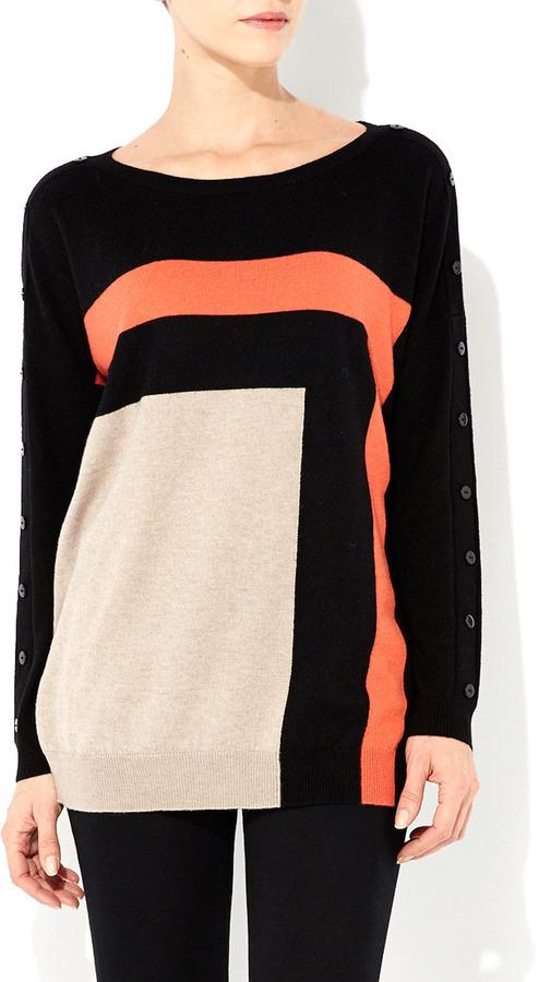 Wallis Orange Colour Block Tunic