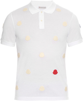 Moncler Logo-appliqué cotton-piqué polo shirt