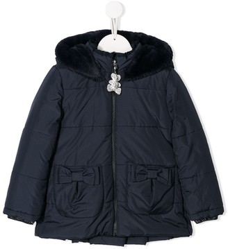 Lapin House Fur Hooded Jacket