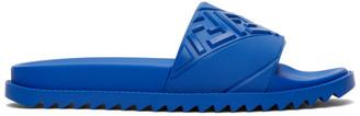 Fendi Blue Forever Logo Pool Slides